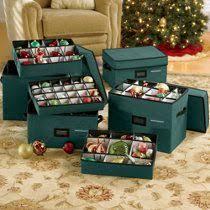wing lid ornament storage box ornament storage ornament storage