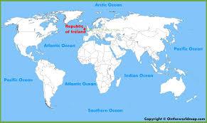 Map Of Dublin Ireland Ireland Location On The World Map