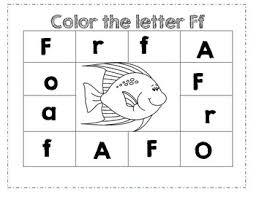 Pre K Letter Worksheets Prek Letter F Color Worksheet By Ashleigh B Olguin Tpt