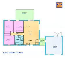 plan maison 80m2 3 chambres plan de maison individuelle plain pied