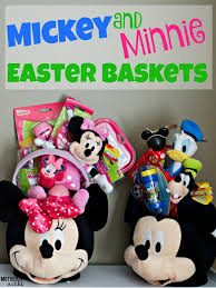 minnie mouse easter baskets diy mickey minnie easter baskets crafthubs