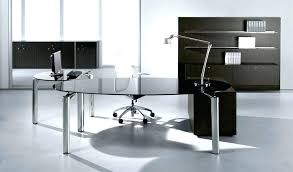 Home Office Glass Desks White Desk With Glass Top Bikepool Co