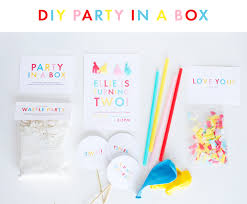 party in a box diy party in a box zurcher co he i party of 5