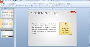free sticky notes powerpoint template free powerpoint templates