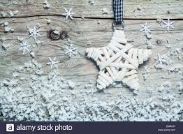 country style christmas star wound with white tape hanging on an