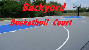 backyard basketball court perfect striping youtube