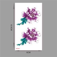 buy purple flower tattoos and get free shipping on aliexpress com
