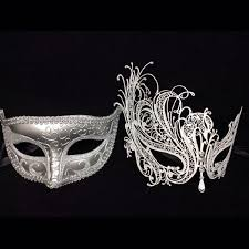 masquerade masks buy his and masquerade masks his silver hers white