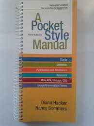 pocket style manual diana hacker nancy sommers marcy carbajal