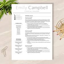 Modern Resume Template Download Resume Template Cv Template For Word Pages No 003