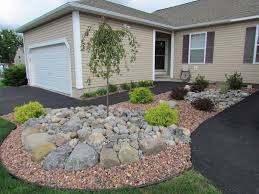 decorative stone home depot landscaping with stone garden designs using gravel rock