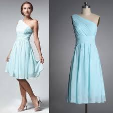 popular light blue chiffon junior bridesmaid dress buy cheap light