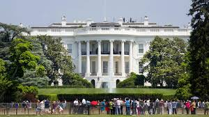 crowd outside white house hoping to catch glimpse of president