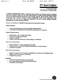 Starbucks Barista Responsibilities Resume Example Resume For Starbucks Barista Augustais