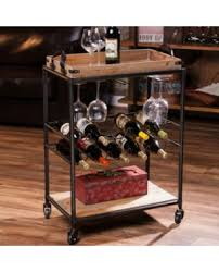 wine storage bar racks shop wine serving carts and trays