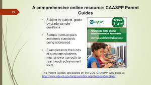 california assessment of student performance and progress caaspp