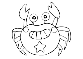Smiling Crab Coloring Pages Animal Coloring Pages Of Crab Coloring Page