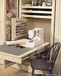 Design A Closet Sewing Room In A Closet Sewing Rooms Closet Doors And Clutter