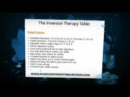 inversion therapy table benefits body ch it8070 inversion therapy table benefits youtube