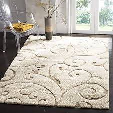 Brown And Beige Area Rug Amazon Com Safavieh Florida Shag Collection Sg455 1113 Scrolling