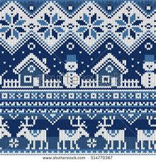 seamless pattern ornaments jacquard knitting stock
