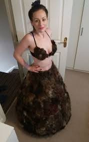 do older women loose there pubic hair mum makes bizarre pubic hair dress after dozens send her bushy