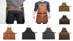 Mens Rugged Fashion Handmade Grilling Aprons For Men With Rugged Style Home