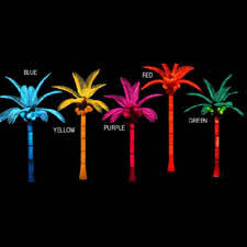 10 outdoor lighted palm tree