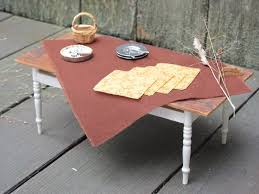 Coffee Table Cloth by Rustic Fall Woodland Brown Table Cloth U0026 Napkin Set 1 12 Scale
