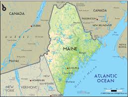Physical Map Of Canada by Map Of Maine Map Travel Holiday Vacations