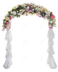 flower arch wedding arch way garden quinceanera party flowers balloon