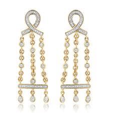 Chandelier Gold Earrings Threaded Stud Earrings Sparkly Silver Earrings Necklace Earrings