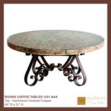Copper Top Coffee Table Copper Top Dining Table Copper Round Table Top Natural Patina