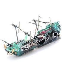 aquarium pirate ship fish tank decorations for sunken pirate