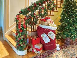 Christmas Banister Garland Small Spaces How To Decorate For Christmas Improvements Blog