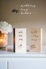 wedding ring holder diy wood block wedding ring holder pinlavie
