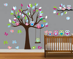 vinyl wall decal on sale colorful nursery cute owl family tree vinyl wall decal on sale colorful nursery cute owl family tree trees owls home house art