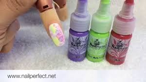 review nail perfect nail art one stroke paints watercolour nail