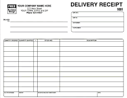 Microsoft Excel Receipt Template Delivery Receipt Template In Excel Format Excel Project
