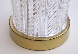 Waterford Table Lamps A Good Pair Of Waterford Crystal Cylindrical Form Lamps At 1stdibs
