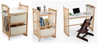 Convertible Changing Table Stokke Care Changing Table Also Converts Into A Bookshelf And Desk