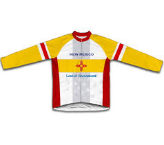 new mexico flag winter thermal cycling jersey winter cycling