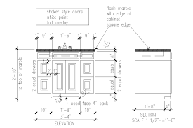 Bathroom Vanities Houston Tx by Basic Shop Drawing For Simple Bath Vanity Cabinet Showing All
