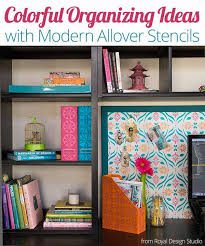 Desk Organization Ideas Diy Colorful Diy Stencil Ideas For A Stylish Desk Organization Project