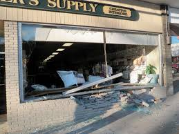 lexus of westport hours no one injured as suv rams compo storefront westport news