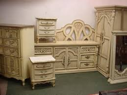 vintage white french provincial bedroom furniture dixie dresser