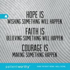 Faith Meme - 3 stops to increasing will power hope faith courage