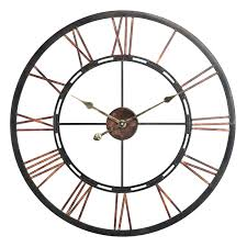 Uttermost Clocks Infinity Instruments Metal Fusion Wall Clock Hayneedle