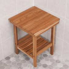 elegance teak shower bench u2014 kelly home decor