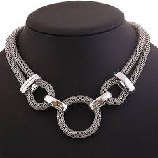 necklace trendy images Trendy silver necklace with a circle pendant natural bath and jpg